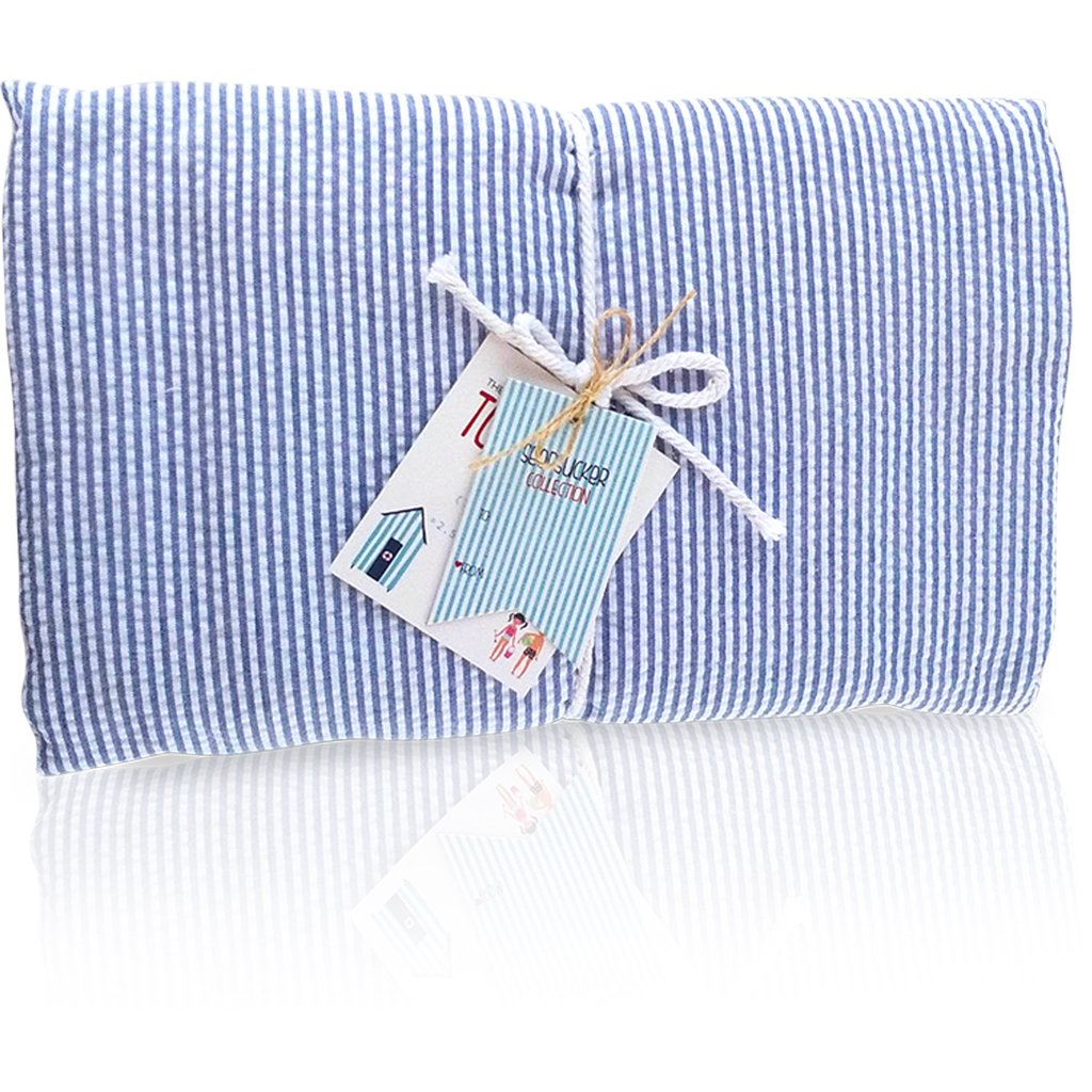 Seersucker Towel-Blanket - Solid Blue