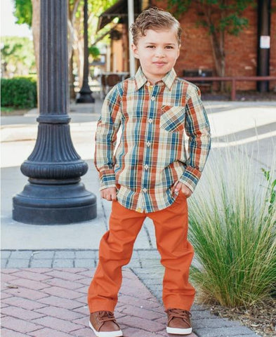 Boys Button Down - Miller Plaid