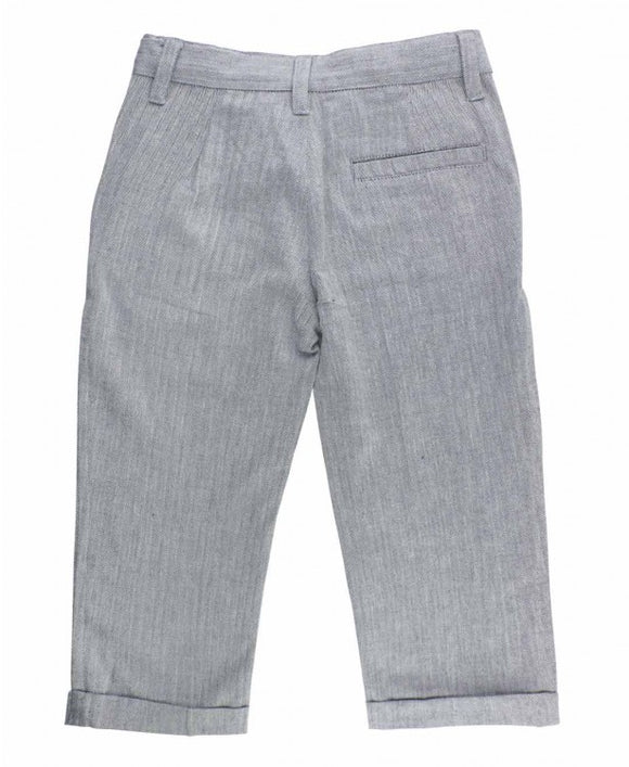 Boys Herringbone Dress Pant