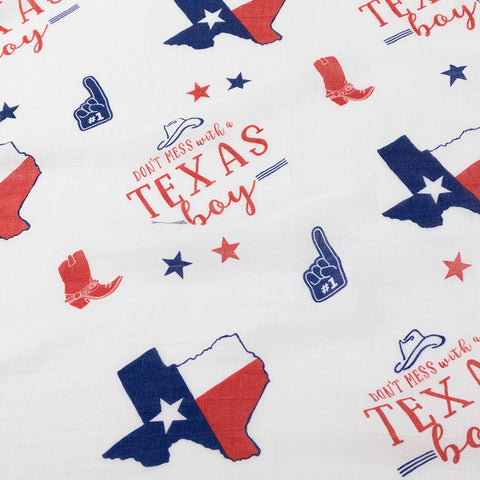 Muslin Swaddle Blanket - Texas Boy