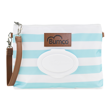 Diaper and Wipe Clutch - Blue