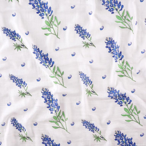 Muslin Swaddle Blanket - Bluebonnets