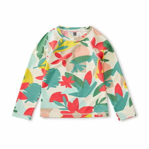 Long Sleeve Rash Guard - Oasis Floral