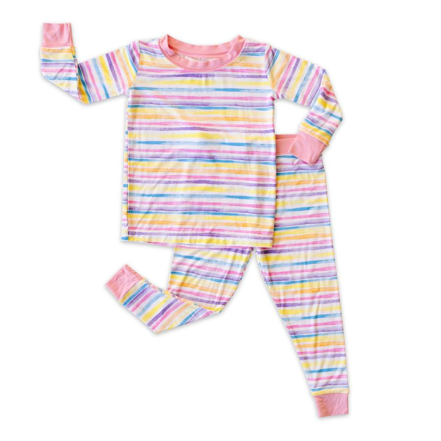 Bamboo Two-Piece Pajama - Sunrise Stripe
