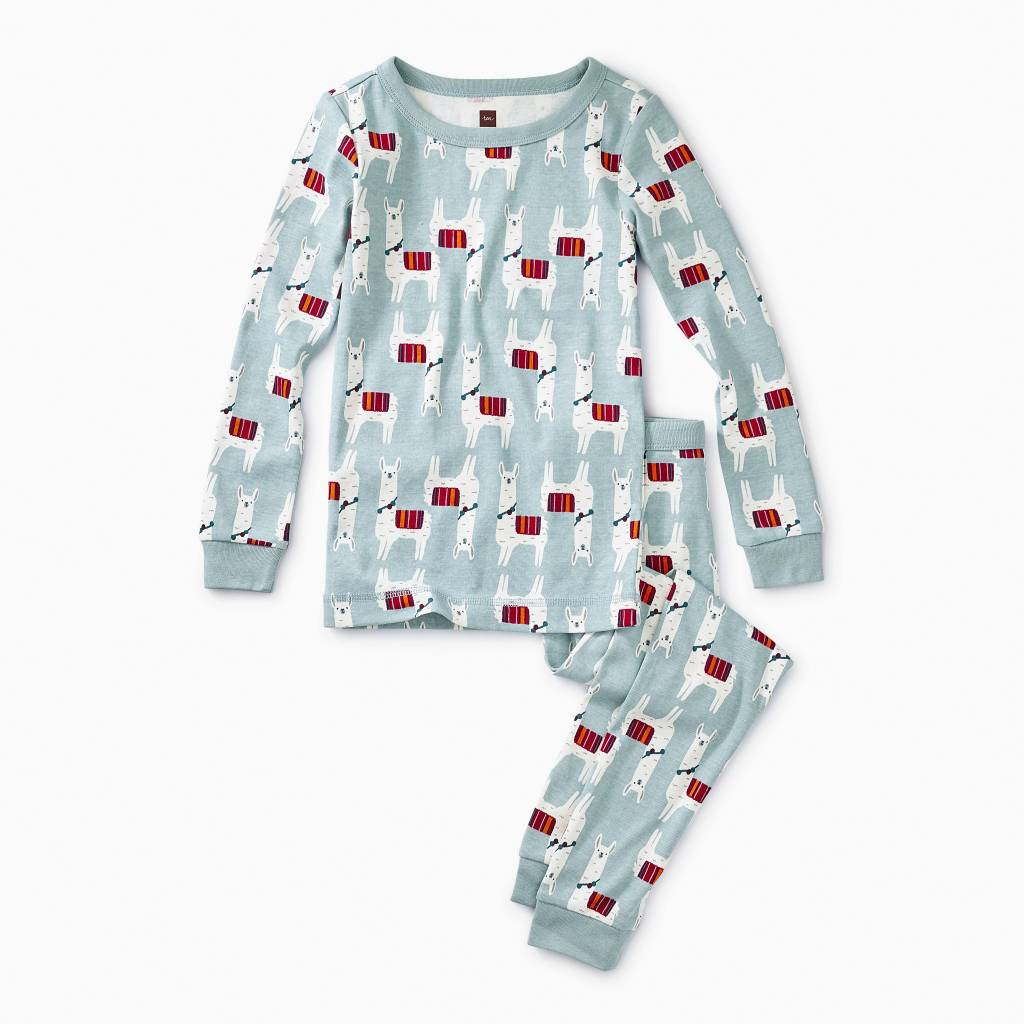 Printed Long Sleeve Pajama - Llama Love