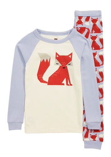 Graphic Long Sleeve Pajama - Friendly Fox