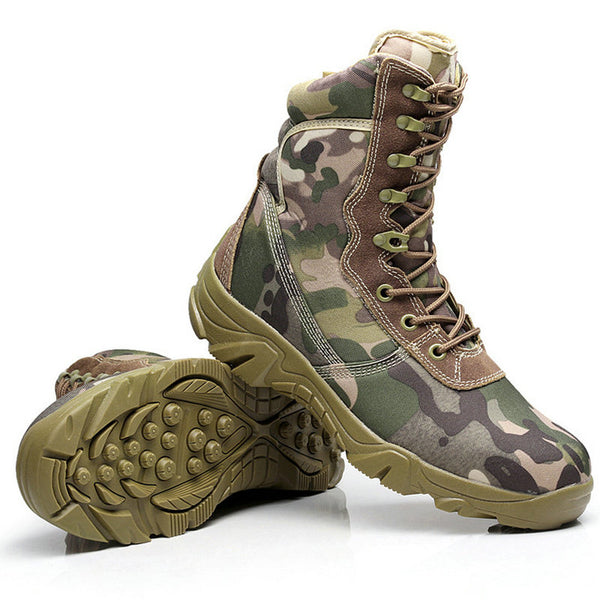 d4c38edb120 Men Ankle Boots Camouflage shoes Military Tactical Combat Boots Desert –  iTacticalGear.com