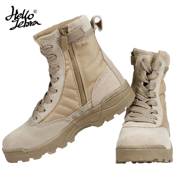 b1ac4dd1de1 IODSON Mens Ultralight Combat Boots, Breathable Military Boots ...