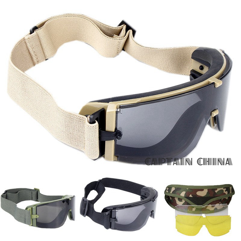 c74b1622653 Military Airsoft X800 Tactical Goggles USMC Tactical Sunglasses Glasses  Army Paintball Goggles