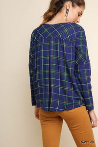 Plaid & GO Top