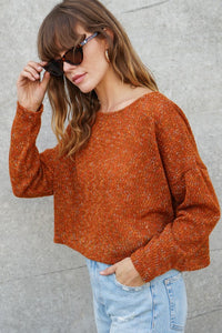 Angie Cropped Knit Sweater