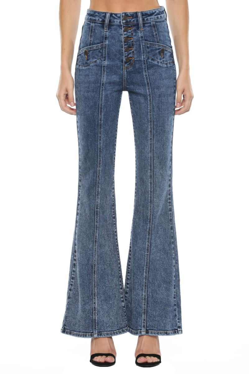 Exposed Flare Jean