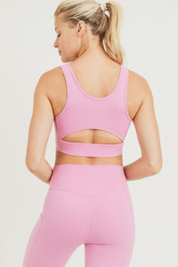 Cut-out back Sports Bra