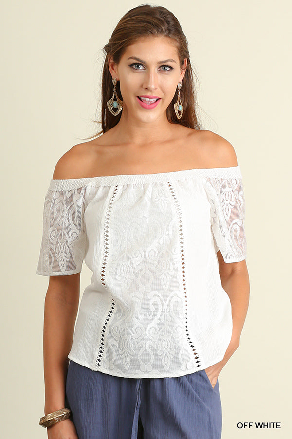 White Hot Off Shoulder Top
