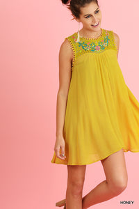 Short & Sweet Embroidered Dress