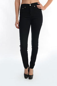 High waisted Skinny black
