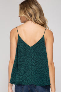 Leopard Woven Cami