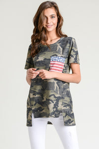 Camo Patriotic Pocket Tee