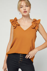 V-neck top Ruffle detail