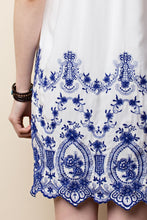 Embroidered Slip Dress