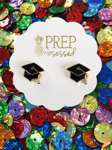 Graduate Enamel Earrings
