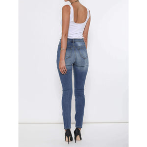 Heavy Faded High Rise Skinny Jean