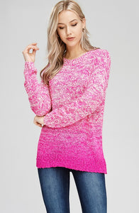 Ombre Textured Pullover Top