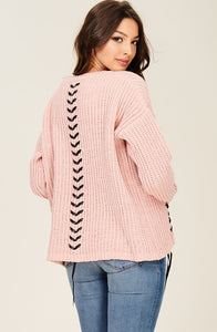 Lace Up Detailed Sweater