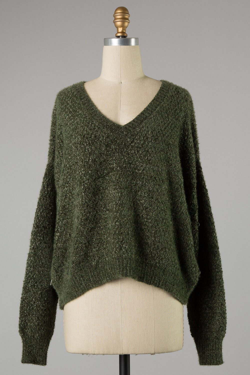 Solid Chenille Knit Sweater