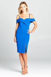 Tamara Sweetheart Off Shoulder Bodycon Dress