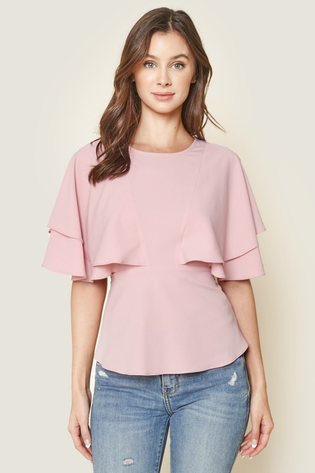 Prudence Cape Sleeve Top