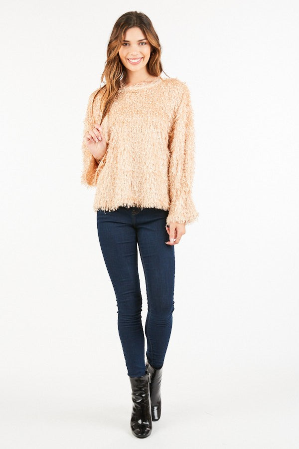 Fringed pullover
