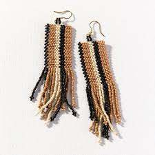 Ink & Alloy Natural Stripe Seed Earrings