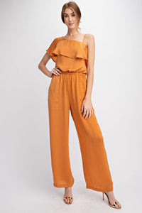 Claire Silky Golden Jumpsuit