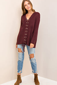 Laced Up Sweater (Missy)