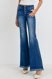 Button Down Flare Jeans