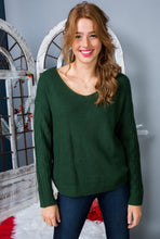 Green Goddess Twist Back Sweater
