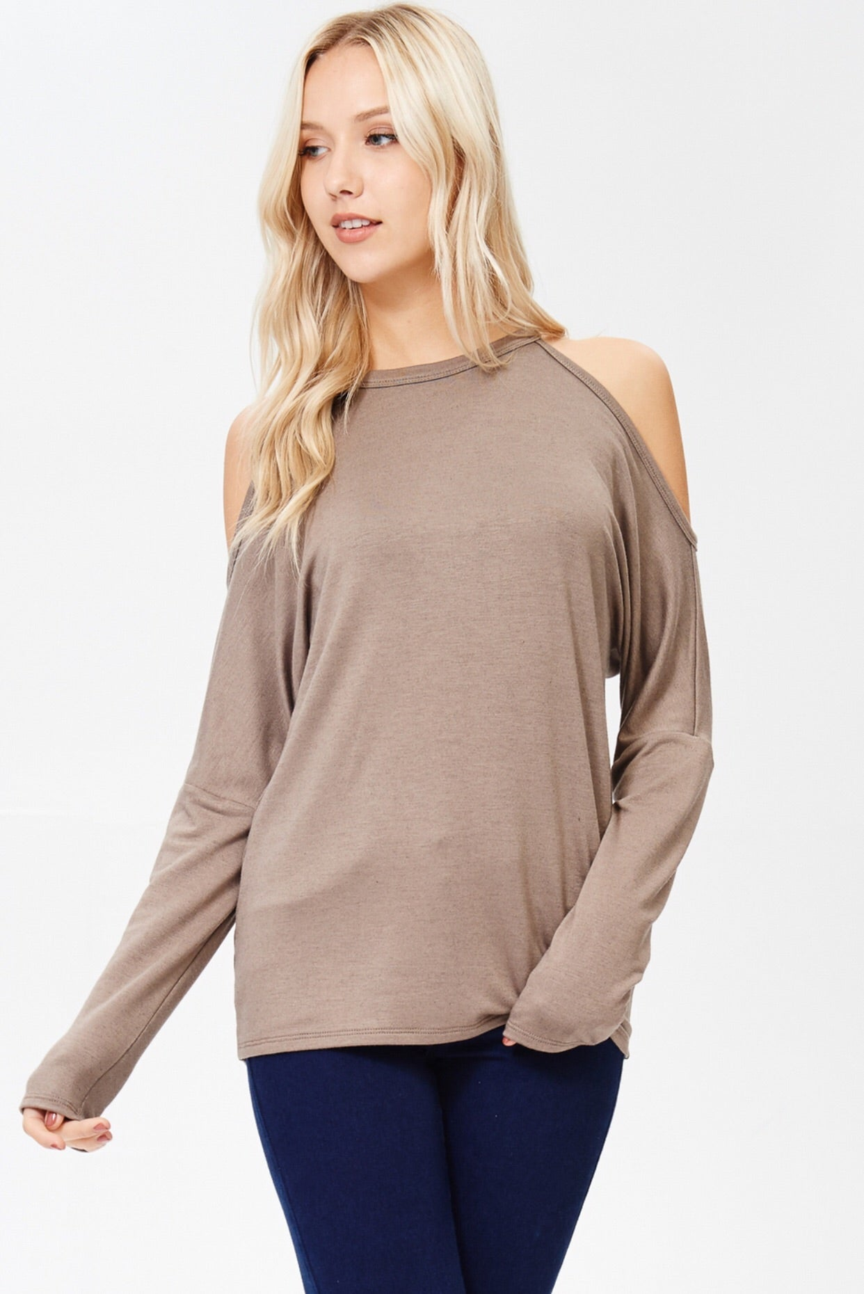Cold Shoulder Racerback Tee