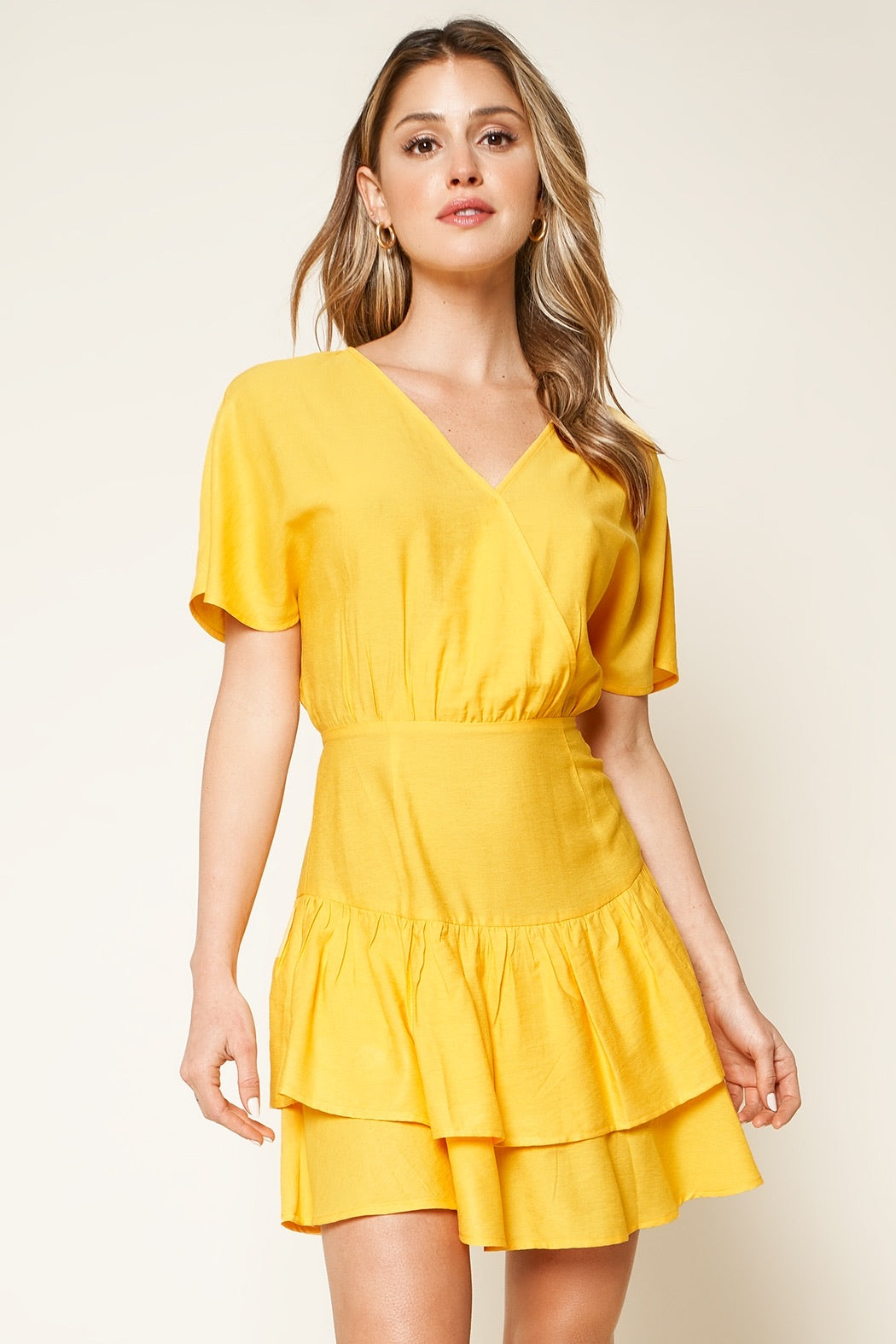 Canary Short Sleeve Mini Dress