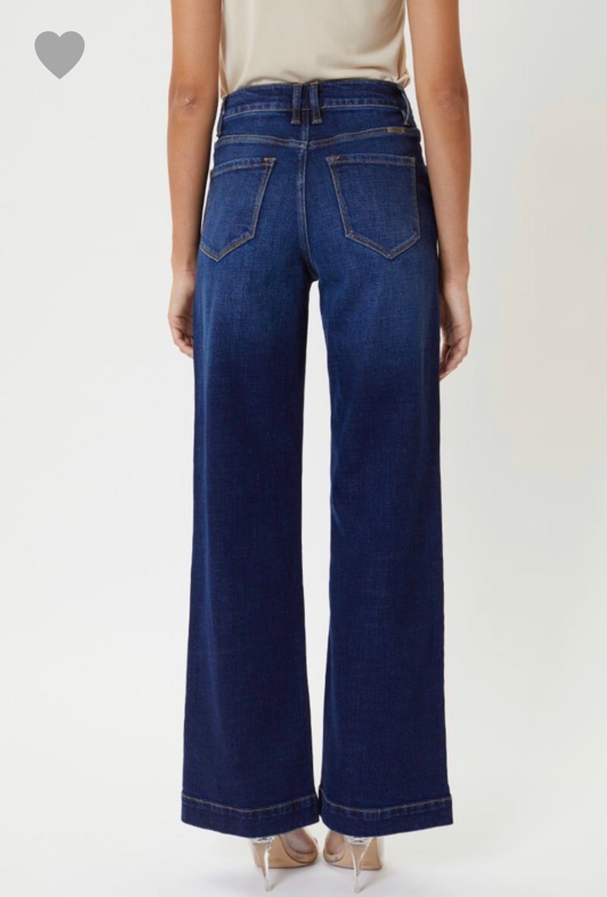 High Rise Trouser Dark Wash