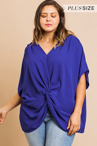 Dolman Sleeve Front Knot Top