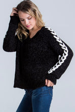 Shoelace Sleeve Sweater