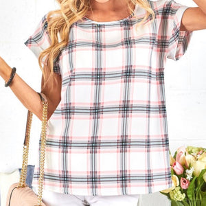 Spring Plaid Top