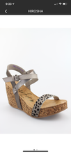 Blowfish Grey Leopard Wedges