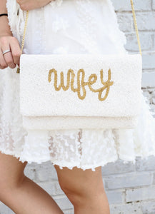 Wifey Beaded Clutch Crossbody