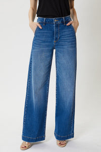 High Rise Trouser Medium Wash