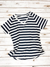 Raw Hem Nautical Stripe Tee
