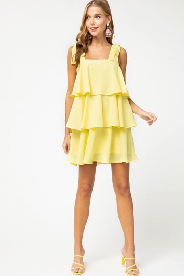 Ruffle layered dress