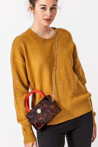 DROPPED SHOULDER  LONG SLEEVE SWEATER