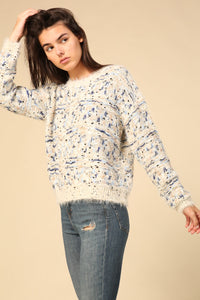 Long sleeve multi design colored sweater